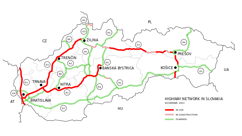 Mapa Słowacji Mapa Samochodowa Turystyczna I Inne