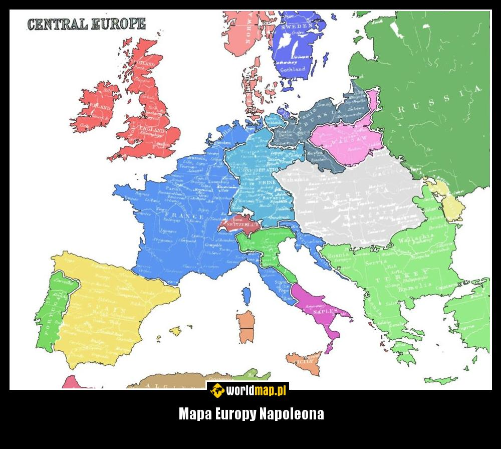 Mapa Europy Napoleona Worldmap Pl