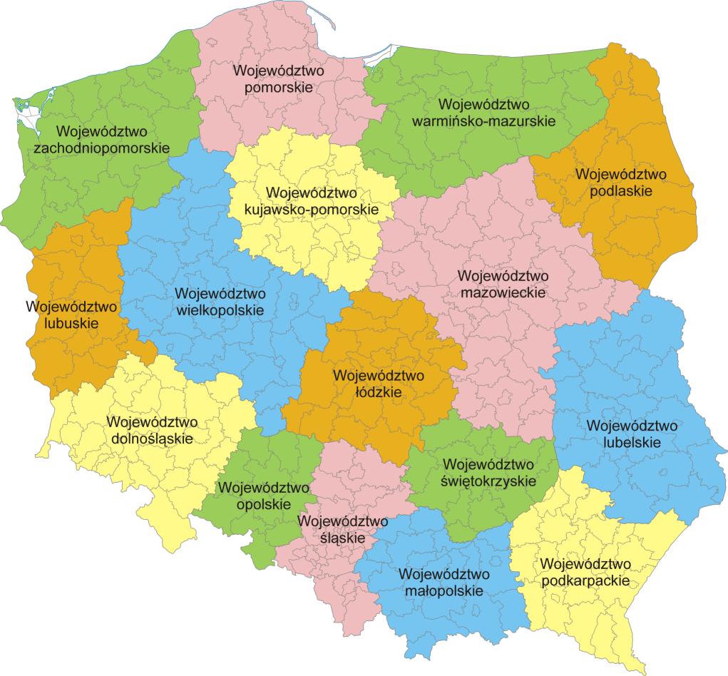 Mapa Administracyjna Polski Worldmap Pl