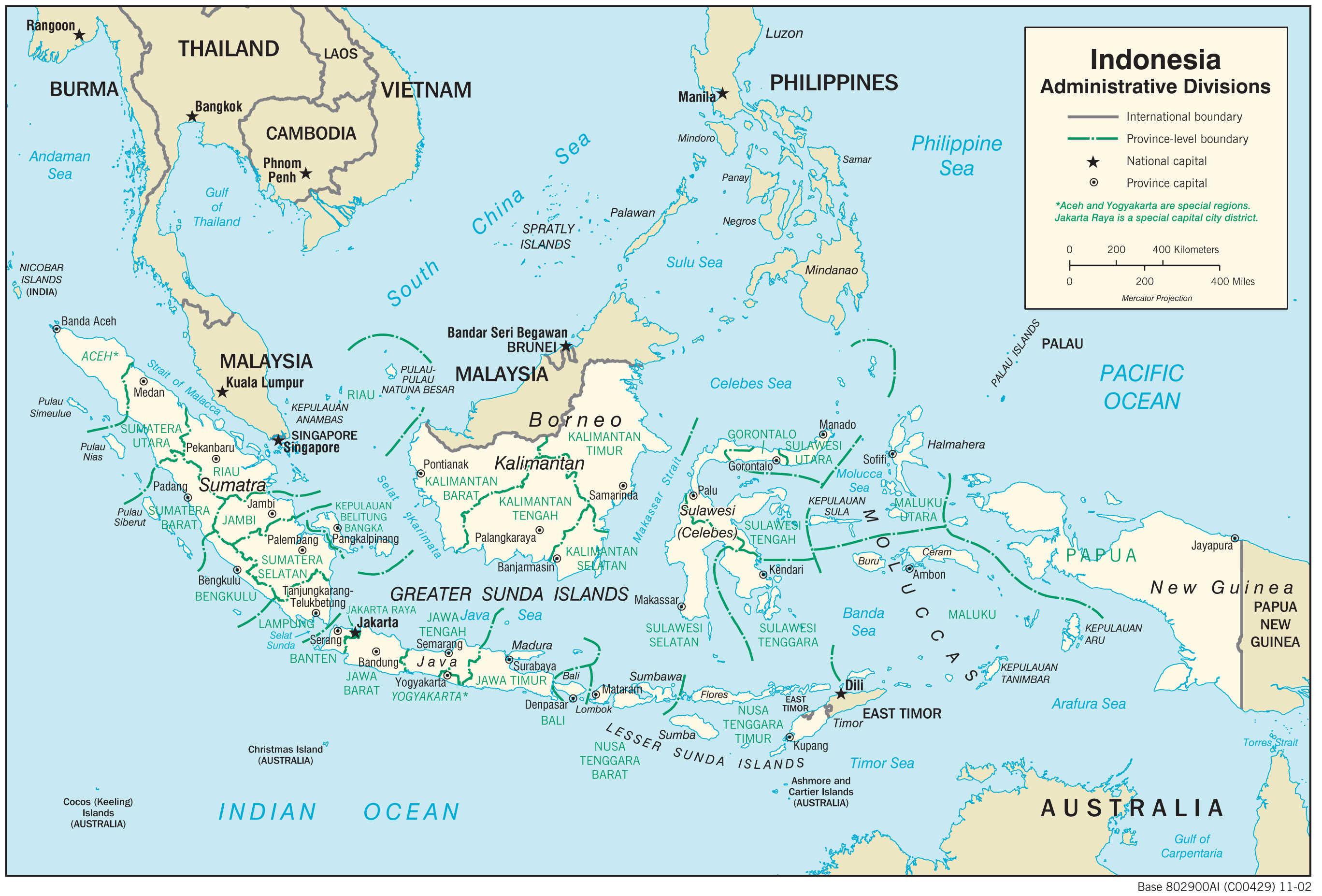 Mapa administracyjna Indonezji