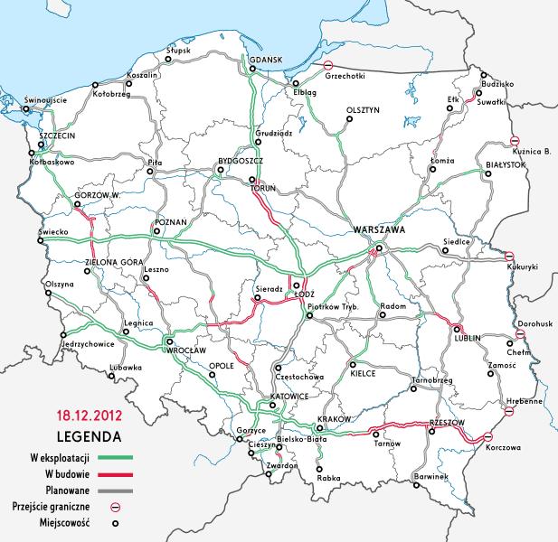Sieć autostrad i dróg ekspresowych w Polsce