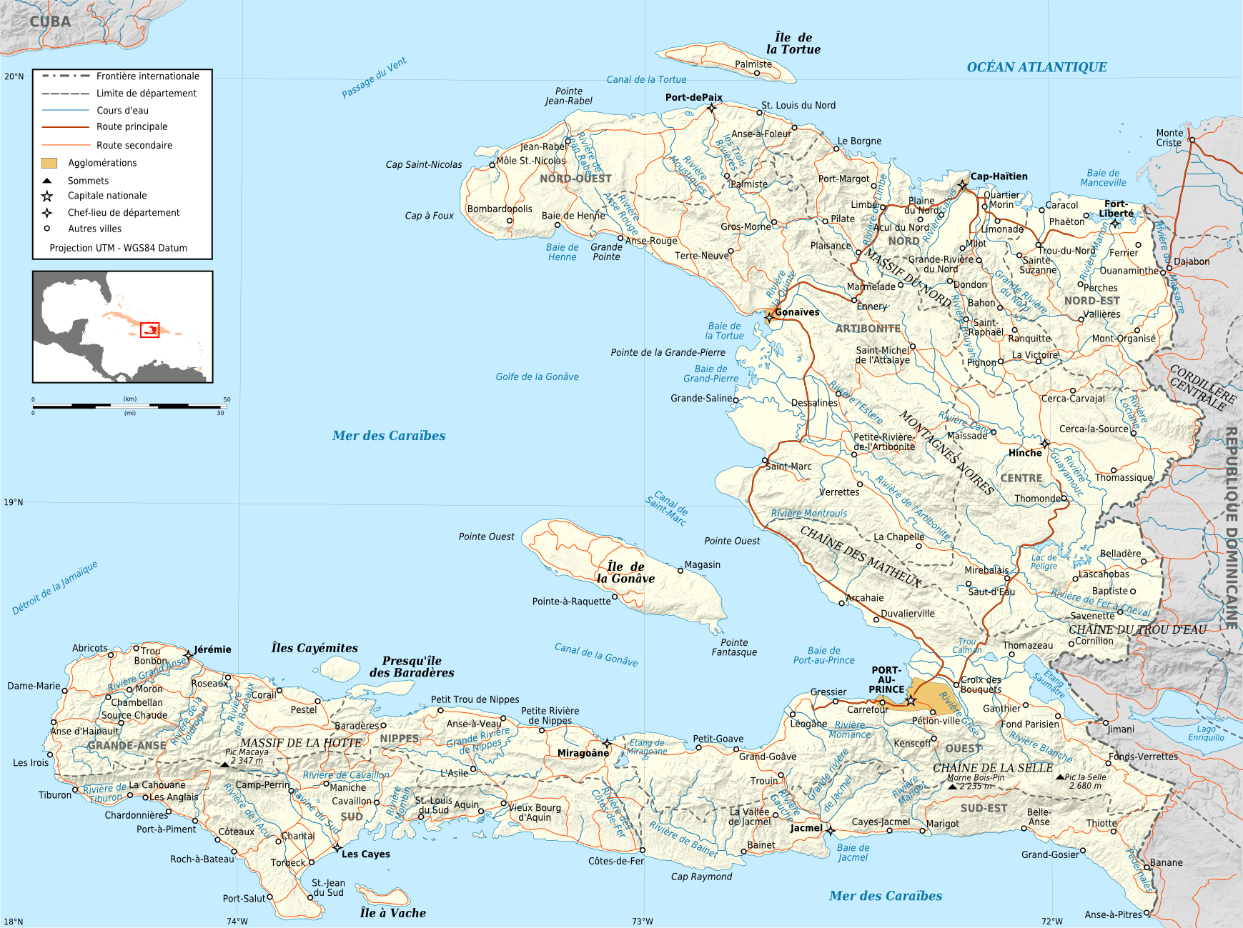 Mapa drogowa Haiti