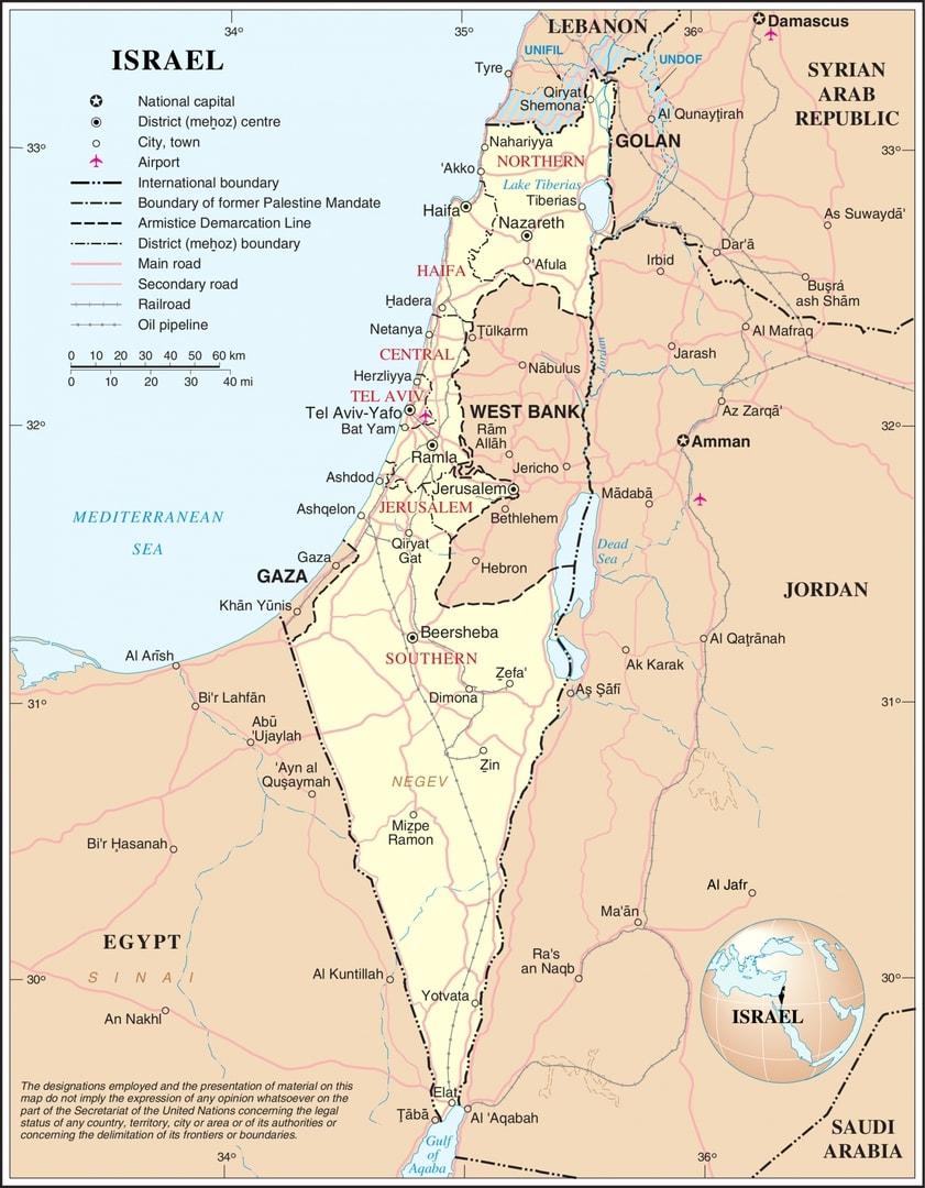 Mapa drogowa Izraela