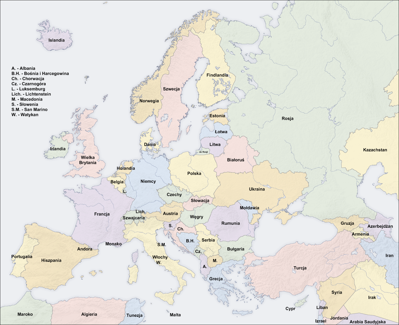 Mapa Europy Worldmap Pl