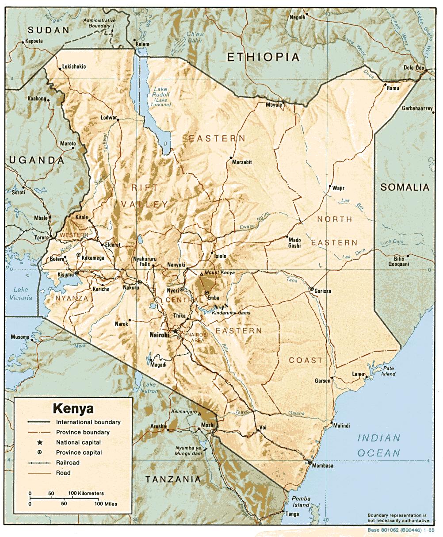 Mapa Kenii i jej położenie