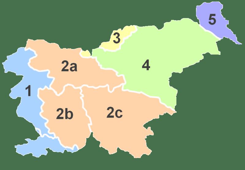 Mapa krain historycznych Słowenii