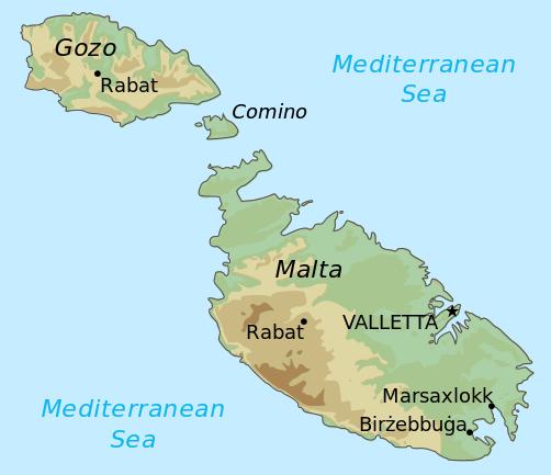 Mapa ogólna Malty