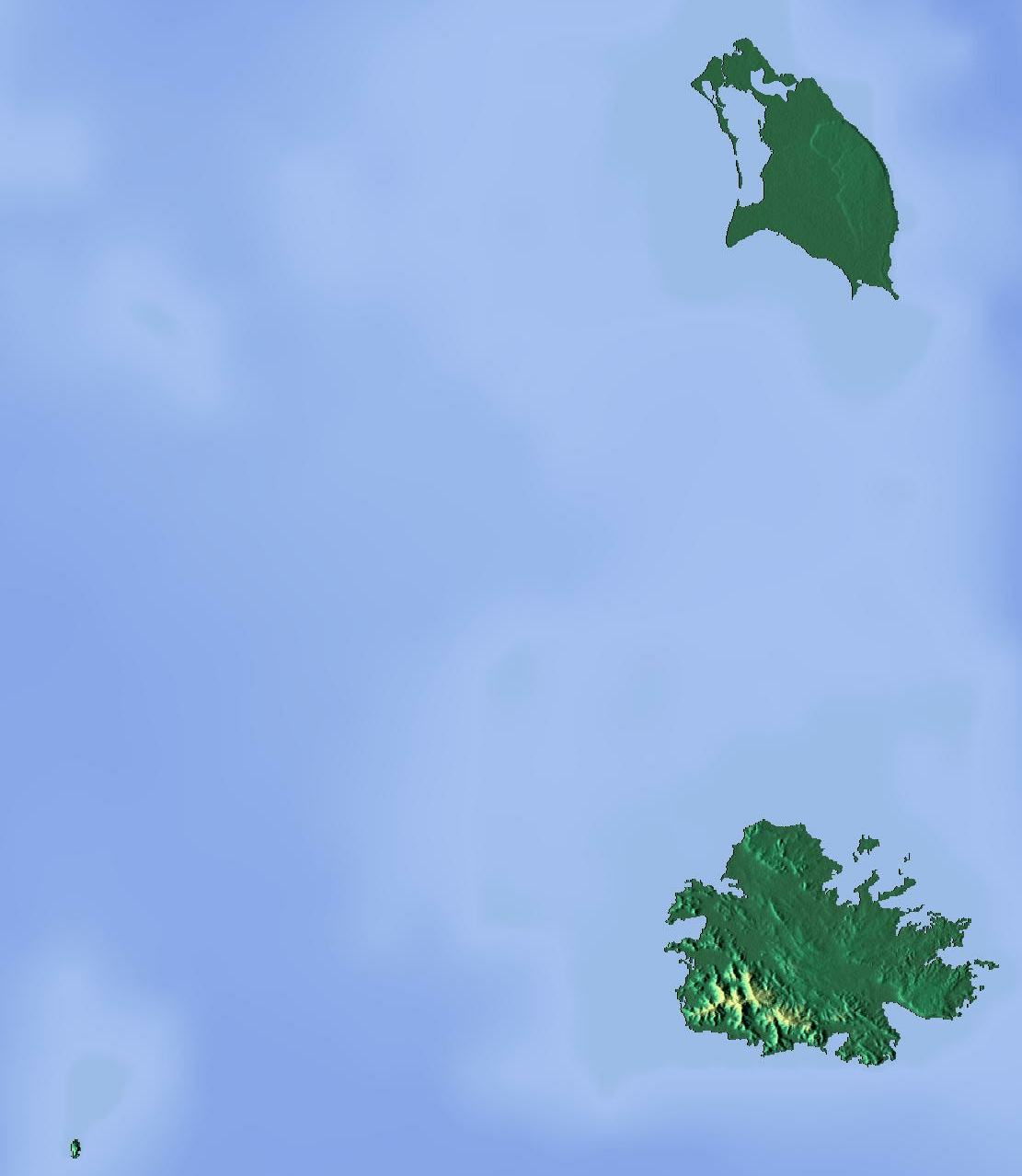 Mapa topograficzna Antigui i Barbudy
