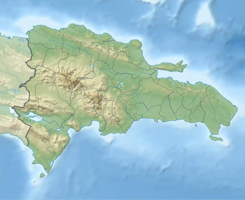Mapa topograficzna Dominikany