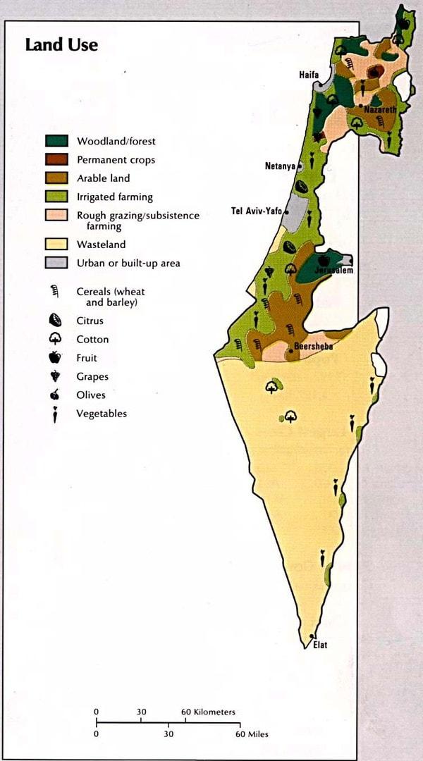 Mapa upraw Izraela