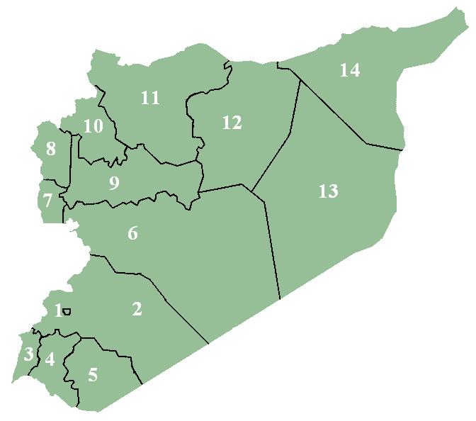 Podział administracyjny Syrii
