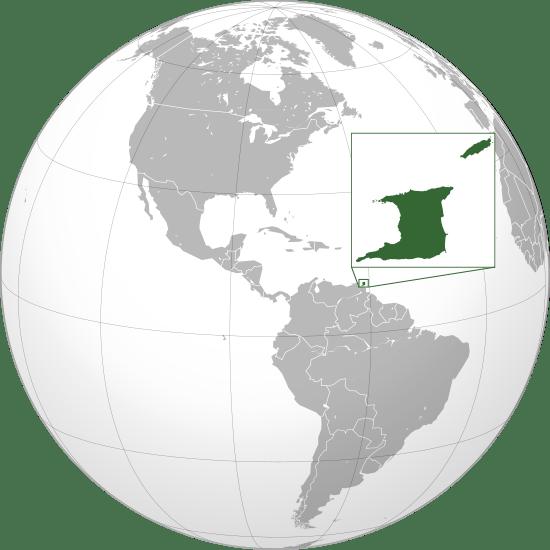 Położenie na mapie Trynidadu i Tobago